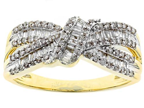 Photo of 0.50ctw Round Diamond 10K Yellow Gold Ring - Size 6