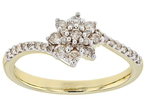 Photo of 0.35ctw Round White Diamond 10k Yellow Gold Ring - Size 9