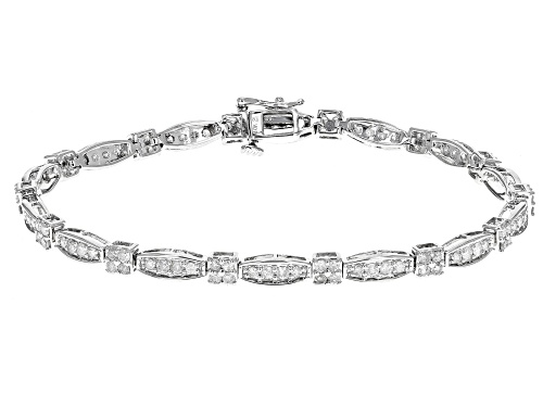 Photo of 2.00ctw Round White Diamond 10k White Gold Bracelet - Size 7.25