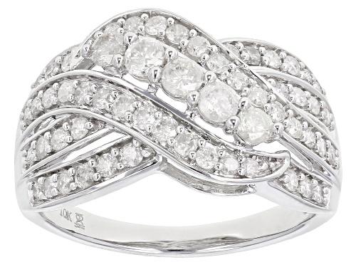 Photo of 1.00ctw Round White Diamond 10k White Gold Ring - Size 7
