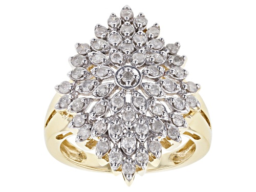 Photo of 1.03ctw Round White Diamond 10k Yellow Gold Ring - Size 8