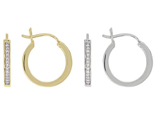 Photo of 1.00ctw Princess Cut Diamond 10k Yellow Gold Earrings