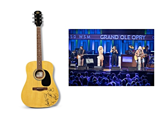 Photo of Back The Beat: Autographed Little Big Town Guitar