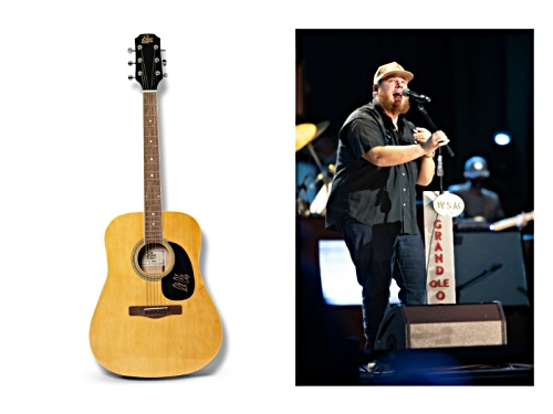 Photo of Back the Beat: Autographed Luke Combs Guitar