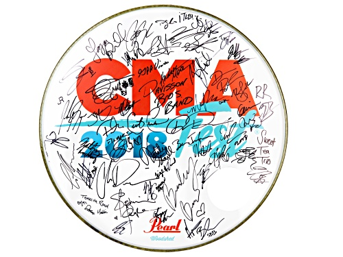Photo of Back The Beat: 2018 CMA Fest Autographed Drumhead