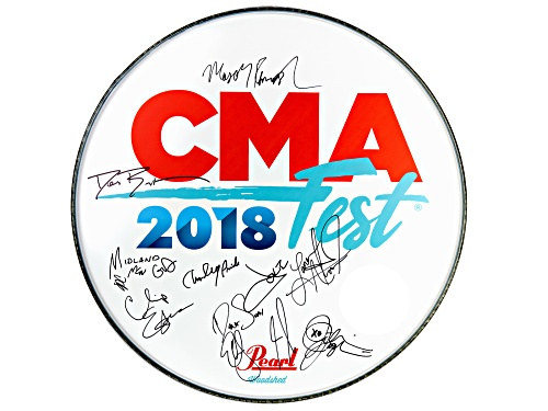 Photo of Back The Beat: 2018 CMA Fest Autographed Drumhead From Nissan Stadium Stage
