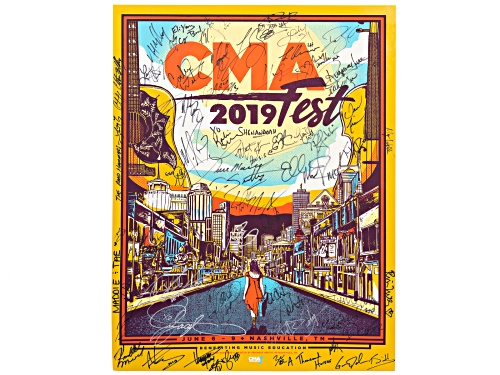 Photo of Back The Beat: 2019 CMA Fest Autographed Poster From Fan Fair X