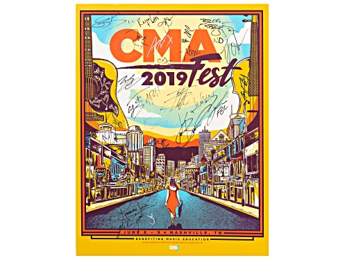 Photo of Back The Beat: 2019 CMA Fest Autographed Poster From Nissan Stadium
