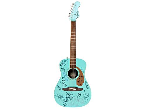 Photo of Back The Beat: 2019 CMA Fest Autographed Fender Guitar Aqua Blue
