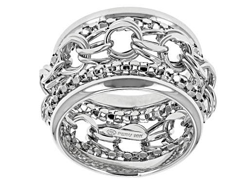 Photo of 10k White Gold Multi-Link Band Ring - Size 6