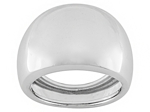 Photo of 10k White Gold Polished Band Ring With Tapered Shank - Size 9