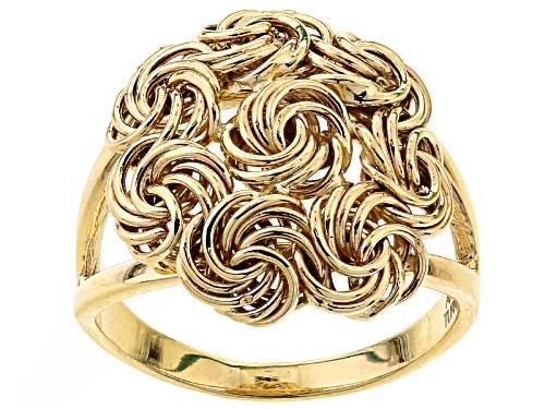 Photo of 10k Yellow Gold Rosetta Ring - Size 4