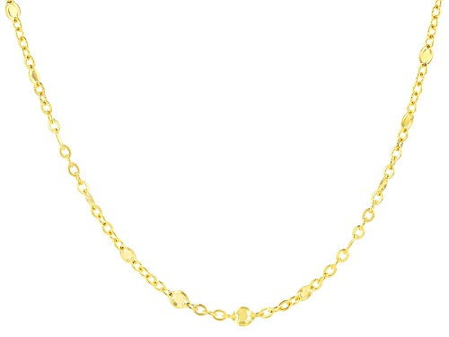 Photo of 10k Yellow Gold Disk Station Cable Link 20 Inch Necklace - Size 20