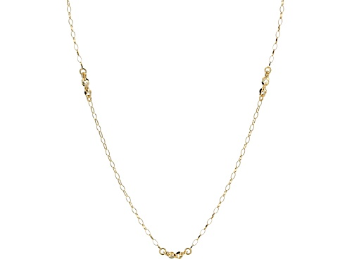 Photo of 10k Yellow Gold Rolo Link Allegro Stations 24 Inch Necklace - Size 24