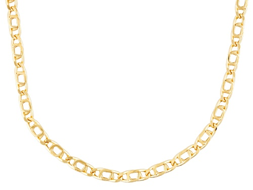 10k Yellow Gold Marquise Link 20 Inch Necklace - Size 20