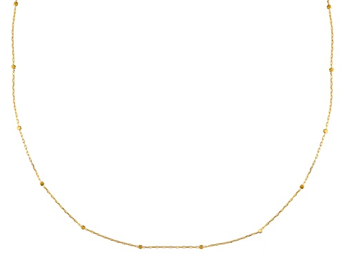 Photo of 10k Yellow Gold Diamond Cut Cube Station 20 Inch Necklace - Size 20