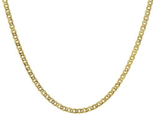 Photo of 10k Yellow Gold Diamond Cut Double Curb Link 20 Inch Necklace - Size 20