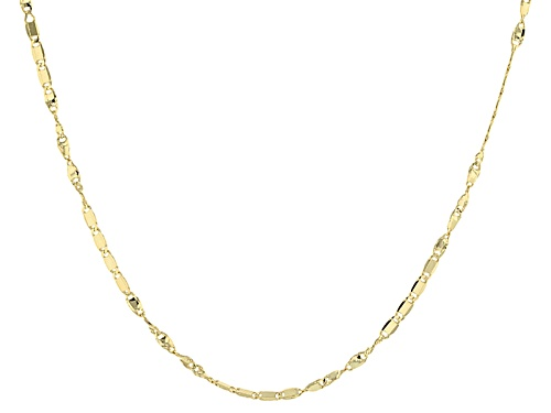 Photo of 10k Yellow Gold 1mm Twisted Flat Cable Link 20 Inch Chain Necklace - Size 20
