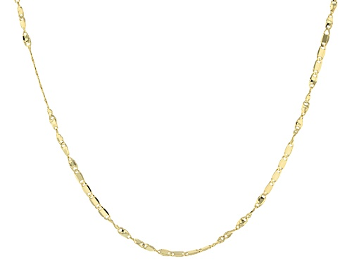 Photo of 10k Yellow Gold And Rhodium Over 10k Yellow Gold 2mm Flat Cable Link 20 Inch Necklace - Size 20