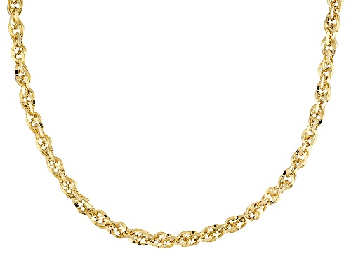 Photo of 10k Yellow Gold Twisted Cable Link 22 Inch Chain Necklace - Size 22