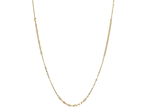 Photo of 10k Yellow Gold Mirror Oval Rolo Link With Curb Link 32 Inch Necklace - Size 32