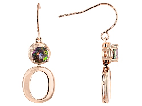 Photo of Timna Jewelry Collection™ 1.36ctw Round Sweet Tart ™ Quartz Solitaire Copper Dangle Earrings