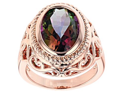 Photo of Timna Jewelry Collection™ 4.90ct Oval Sweet Tart™ Quartz Solitaire Copper Ring - Size 8