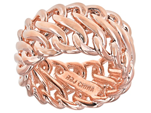 Photo of Timna Jewelry Collection™ Copper Chain Design Eternity Band Ring - Size 7