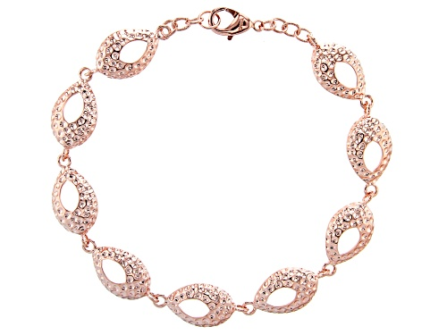 Photo of Timna Jewelry Collection™ Copper Hammered Station Bracelet - Size 8
