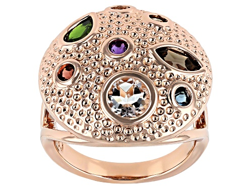 Photo of Timna Jewelry Collection™ 1.96ctw Mix Shape Multi- Gemstone Textured Copper Dome Ring - Size 7