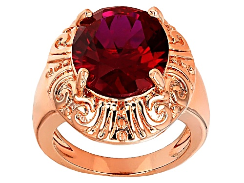 Photo of Timna Jewelry Collection™ 6.80ct Oval Lab Created Ruby Copper Ring - Size 8