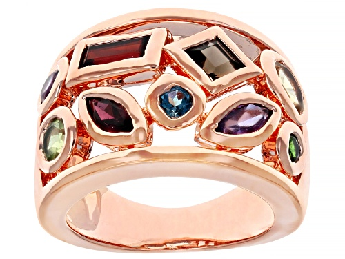 Photo of Timna Jewelry Collection™ 1.99ctw Mixed Shapes Multi-Gem Copper Ring - Size 4