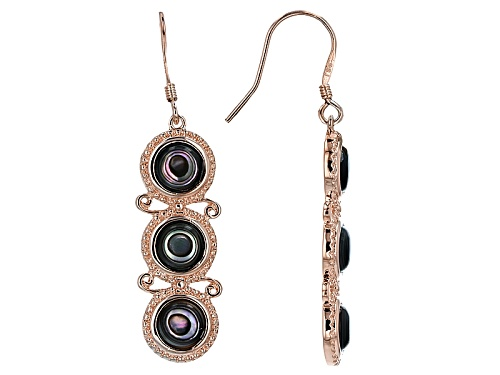 Photo of Timna Jewelry Collection™ 6mm Round Abalone Shell Copper Dangle Earrings