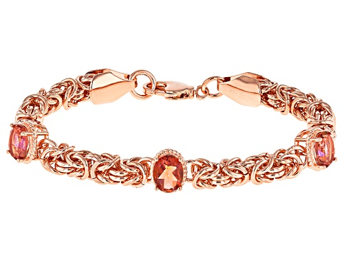 Photo of Timna Jewelry Collection™ 4.53ctw 9x7mm Oval Whatiwant™ Mystic Quartz® Copper Bracelet - Size 8