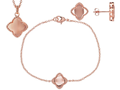 Photo of Timna Jewelry Collection™ Copper Bracelet, Pendant and Earrings Jewelry Set