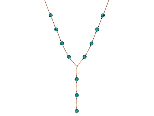 Photo of Timna Jewelry Collection™ Carved Round Turquoise Bead  Copper Station Necklace - Size 32
