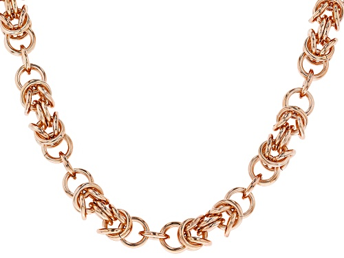 Photo of Timna Jewelry Collection™ Copper Byzantine Chain Link, Station Necklace - Size 18