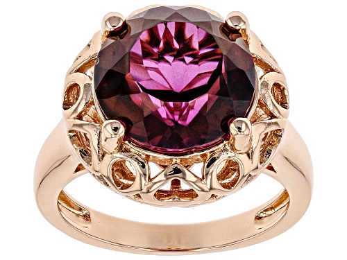 Photo of Timna Jewelry Collection™ 5.22ct Round  Unchanging™ Quartz Solitaire Copper Ring - Size 11