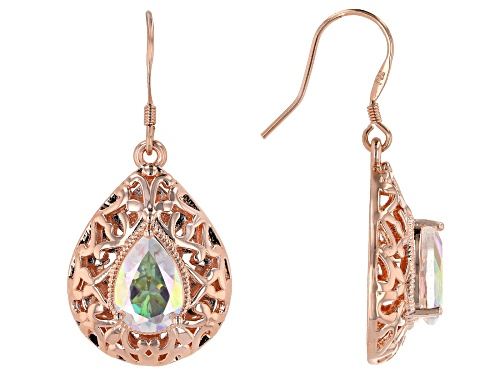 Photo of Timna Jewelry Collection™ 3.42ctw Pear shape Zero Jupiter™ Quartz Copper Dangle Earrings