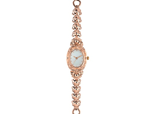 Photo of Timna Jewelry Collection™ Copper Mother Of Pearl Dial Ladies Watch