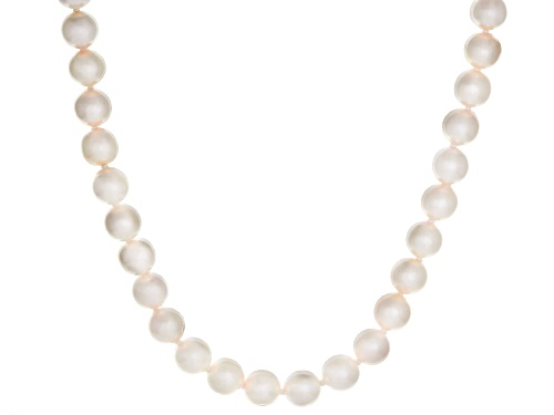 Photo of 6-6.5mm White Cultured Japanese Akoya Pearl 14k Yellow Gold 18 Inch Strand Necklace - Size 18