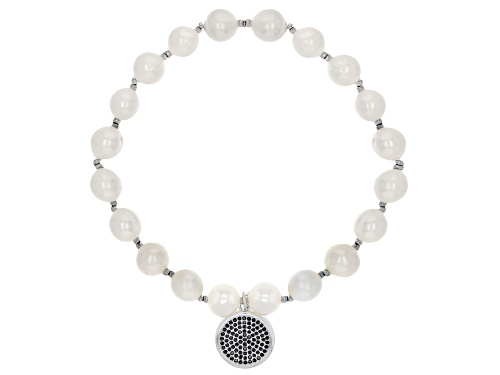 Photo of 8-8.5MM CULTURED FRESHWATER PEARL & BELLA LUCE(R) RHODIUM OVER SILVER STRETCH BRACELET