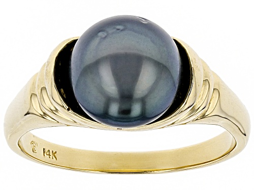 Photo of 9mm Cultured Gambier Tahitian Pearl, 14k Yellow Gold Ring - Size 7