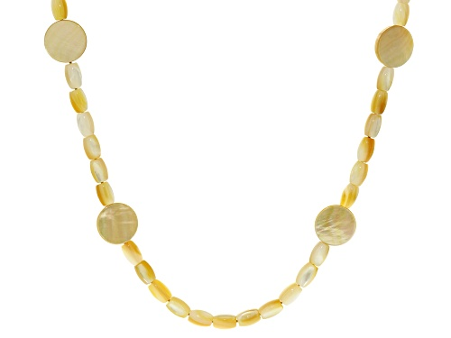 Photo of Golden South Sea Mother-Of-Pearl 28 Inch Endless Strand Necklace - Size 28