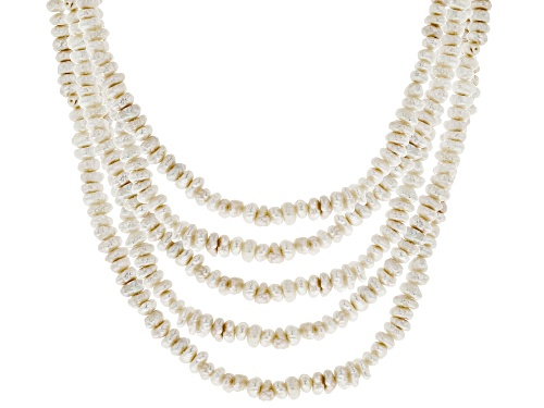 Photo of 4-5mm White Cultured Freshwater Pearl Endless Necklace Set of Five