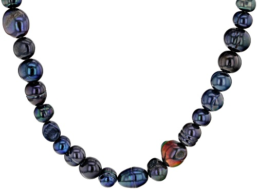 Photo of 4-10mm Enhanced Black Cultured Freshwater Pearl Endless Strand 36 inch Necklace - Size 36