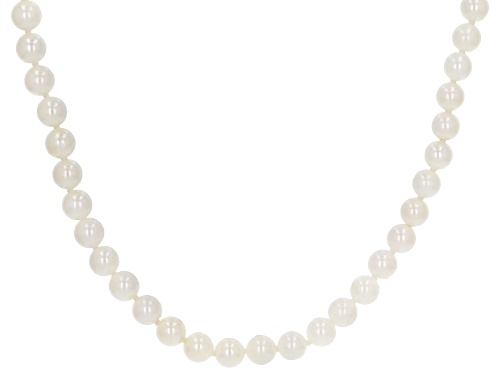 Photo of 5-5.5mm White Cultured Japanese Akoya Pearl 60 inch Endless Strand Necklace - Size 60