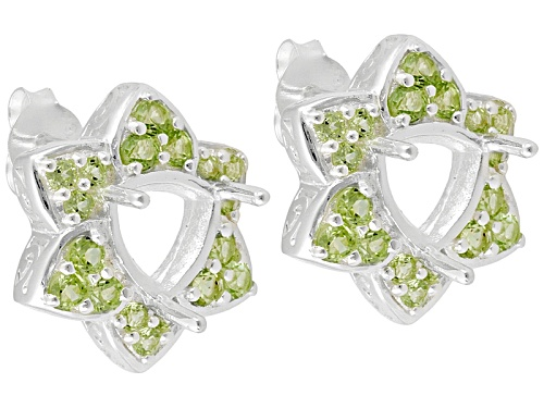 Photo of Gemsavvy Trenditions™Sterling Silver 7 Mm Tr W/ 1.44ctw Peridot Semi Mnt  Earrings