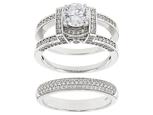 Photo of Charles Winston For Bella Luce ® 4.96ctw Rhodium Over Silver Ring With Guard - Size 11