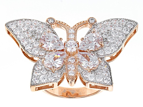 Photo of Charles Winston For Bella Luce ® 7.71ctw 18k Rose Gold Over Sterling Silver Ring - Size 5